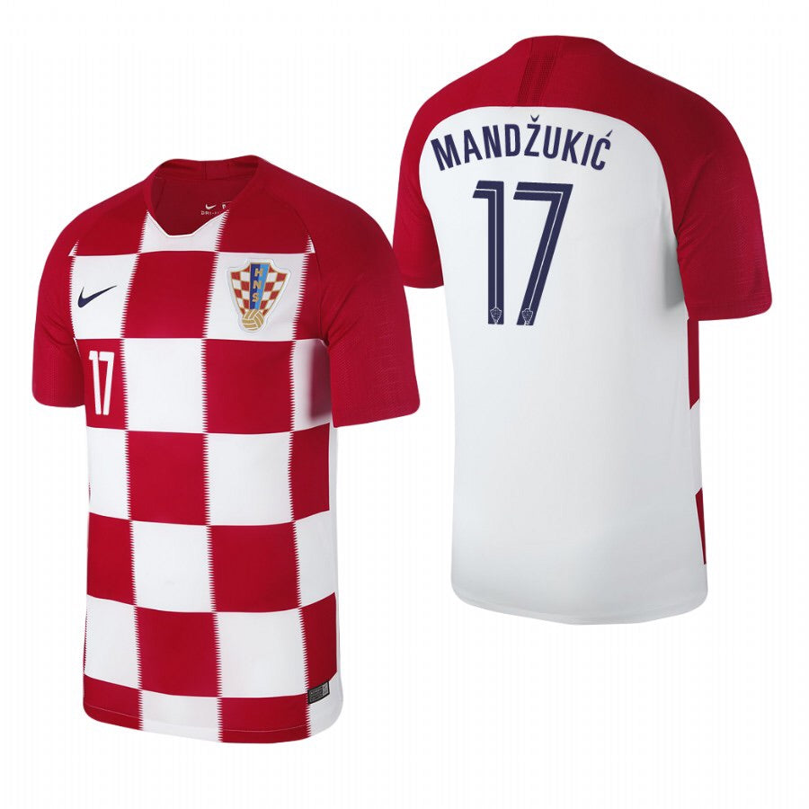 2018 World Cup Manžukić Croatia National Team Home Jersey - La Vinotinto Shop