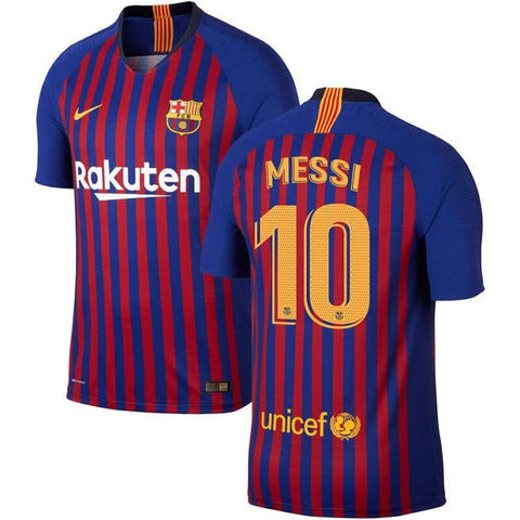 2018-19 Season Nike Men's Messi #10 Barcelona Club Team Home Jersey