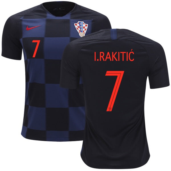 2018 World Cup I. Rakitić Croatia National Team Away Jersey - Kids - La Vinotinto Shop