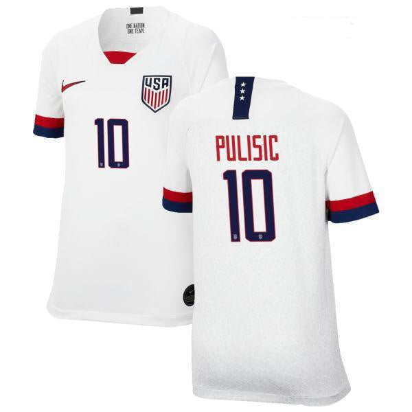 huge discount b42c7 c10ae 2019 Gold Cup USA Pulisic #10 Nike Home White Soccer Jersey