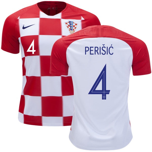 2018 World Cup Perišić Croatia National Team Home Jersey - Kids - La Vinotinto Shop