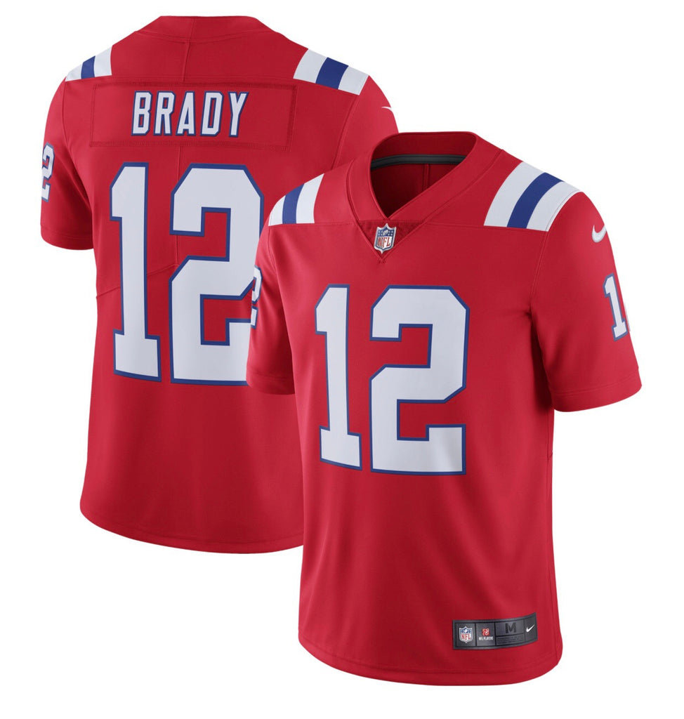 Men's New England Patriots Tom Brady Nike Red Vapor Untouchable Limited Player Jersey - La Vinotinto Shop