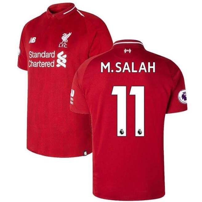 2018-19 Season New Balance M Salah Liverpool FC Home Jersey - La Vinotinto Shop