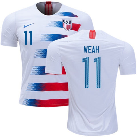 2018 USA Nike Weah Home Jersey