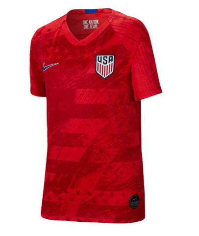 2019 Gold Cup USA Nike Away Red Soccer Jersey