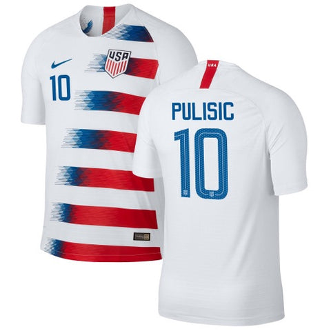 2018 USA Nike Pulisic Home Jersey