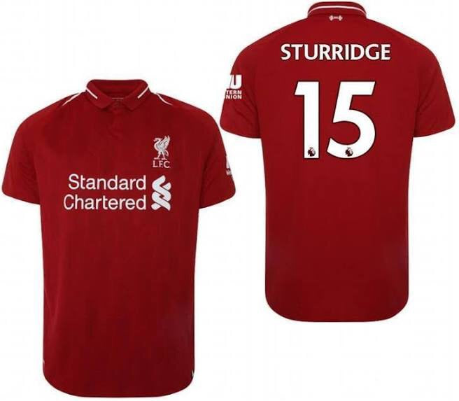 2018-19 Season New Balance Sturridge Liverpool FC Home Jersey - La Vinotinto Shop