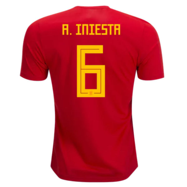 2018 Iniesta Spain National Team Jersey - La Vinotinto Shop