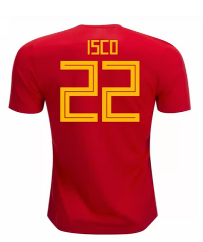 2018 Isco Spain National Team Jersey