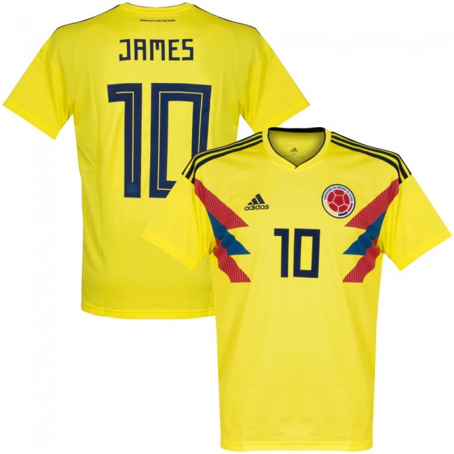 2018 James Colombia National Team Home Jersey - La Vinotinto Shop
