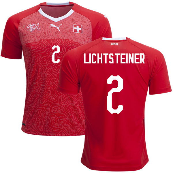 Switzerland Lichtsteiner National Team Jersey - La Vinotinto Shop