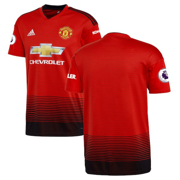 2018-19 Season adidas Men's Manchester United Club Team Home Jersey - La Vinotinto Shop