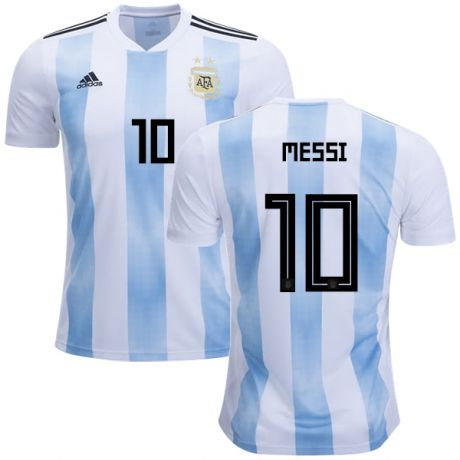 2018 World Cup adidas Leo Messi #10 Argentina Home Jersey