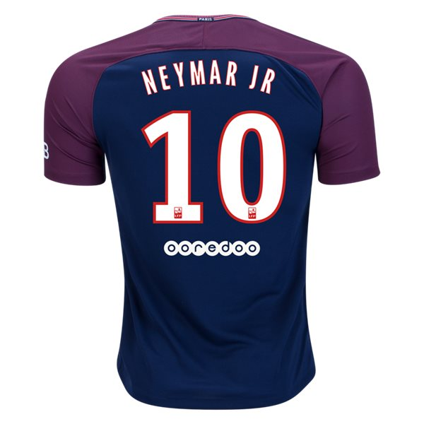 2017-18 Season Neymar PSG Home Club Jersey - Blue - La Vinotinto Shop