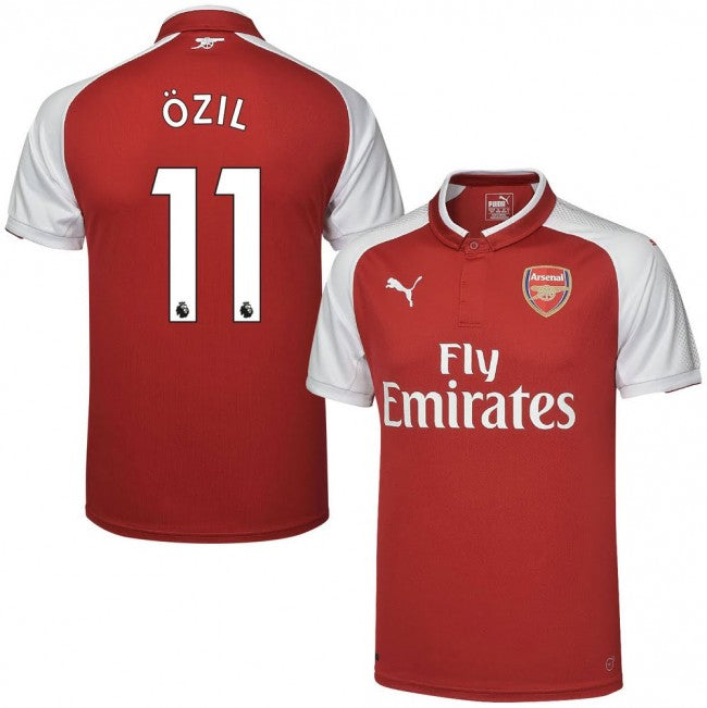 6215a1218 2017-18 Season Puma Men s Özil  11 Arsenal FC Club Team Home Jersey - Red