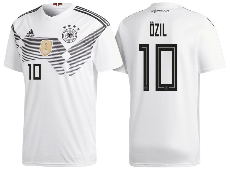 huge discount 1c228 3352a 2018 World Cup adidas Özil #10 Germany National Team Home Jersey - White