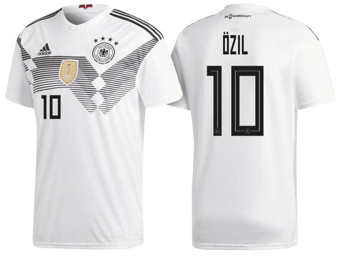 2018 World Cup adidas Özil #10 Germany National Team Home Jersey - White