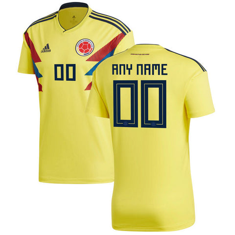 Personalize Your 2018 Colombia National Team Home Jersey