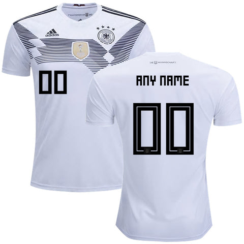 76d47fe82 Personalize Your 2018 World Cup adidas Germany National Team Home Jersey -  White