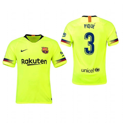 2018-19 Season Nike Men's Pique #3 Barcelona Club Team Away Jersey