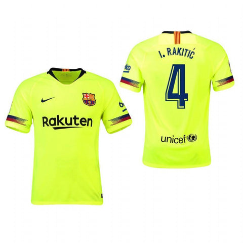 2018-19 Season Nike Men's Rakitic #4 Barcelona Club Team Away Jersey
