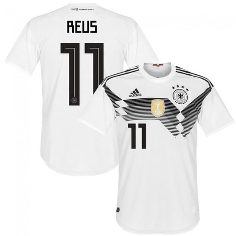 2018 World Cup adidas Reus #11 Germany National Team Home Jersey - White