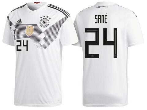 2018 World Cup adidas Sané #24 Germany National Team Home Jersey - White