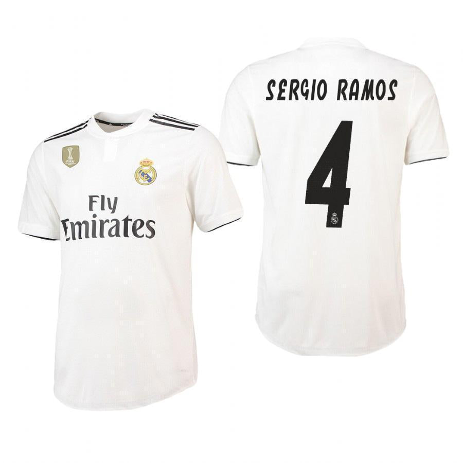 2018-19 Season adidas Men's Sergio Ramos #4 Real Madrid Club Team Home Jersey - White - La Vinotinto Shop