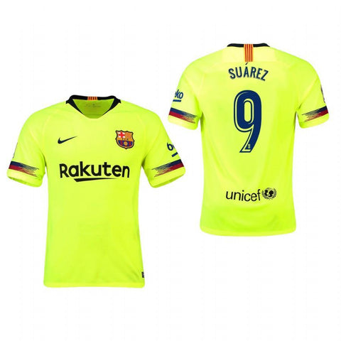 2018-19 Season Nike Men's Suarez #9 Barcelona Club Team Away Jersey