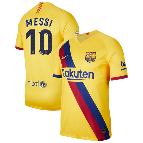 2019-20 Season Barcelona Club Nike Men's Messi #10 Team Away Jersey