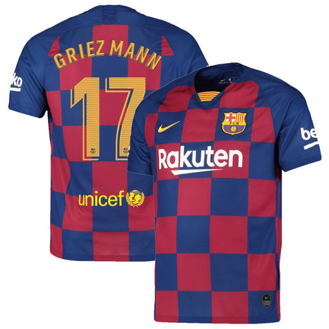 2019-20 Season Barcelona Club Nike Men's Griezmann #17 Team Home Jersey