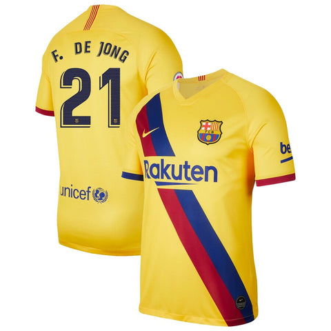 2019-20 Season Barcelona Club Nike Men's F. De Jong #21 Team Away Jersey