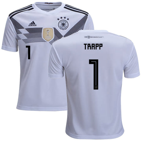 2018 World Cup adidas Trapp #1 Germany National Team Home Jersey - White