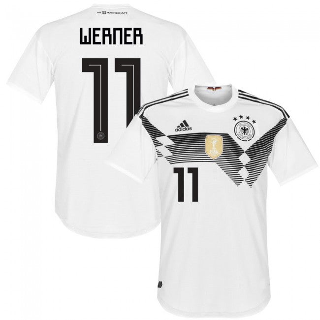 watch 27e3f b0eb9 2018 World Cup adidas Werner #11 Germany National Team Home Jersey - White