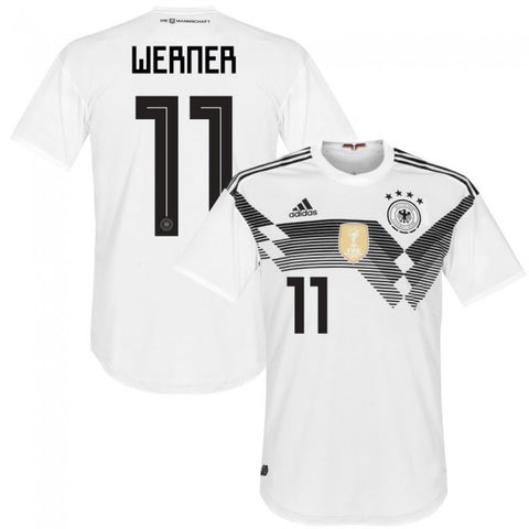 2018 World Cup adidas Werner #11 Germany National Team Home Jersey - White