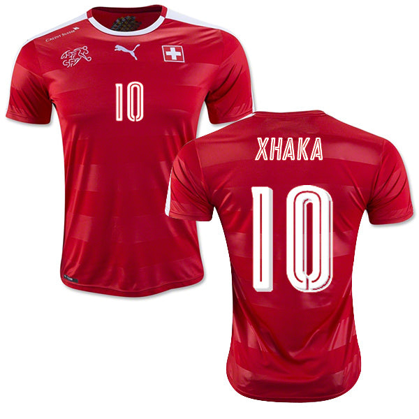 Switzerland Xhaka National Team Jersey - La Vinotinto Shop