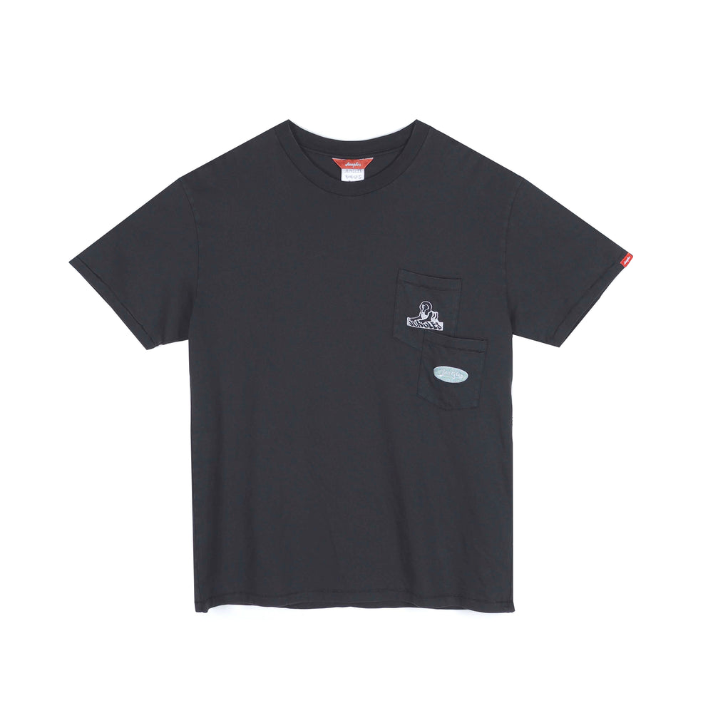 Load image into Gallery viewer, Jungles JUNGLES Double Pocket Sphinx Logo Tee 'Black'