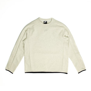 Load image into Gallery viewer, Nike Grind Tech Fleece Crewneck 'Heather White'
