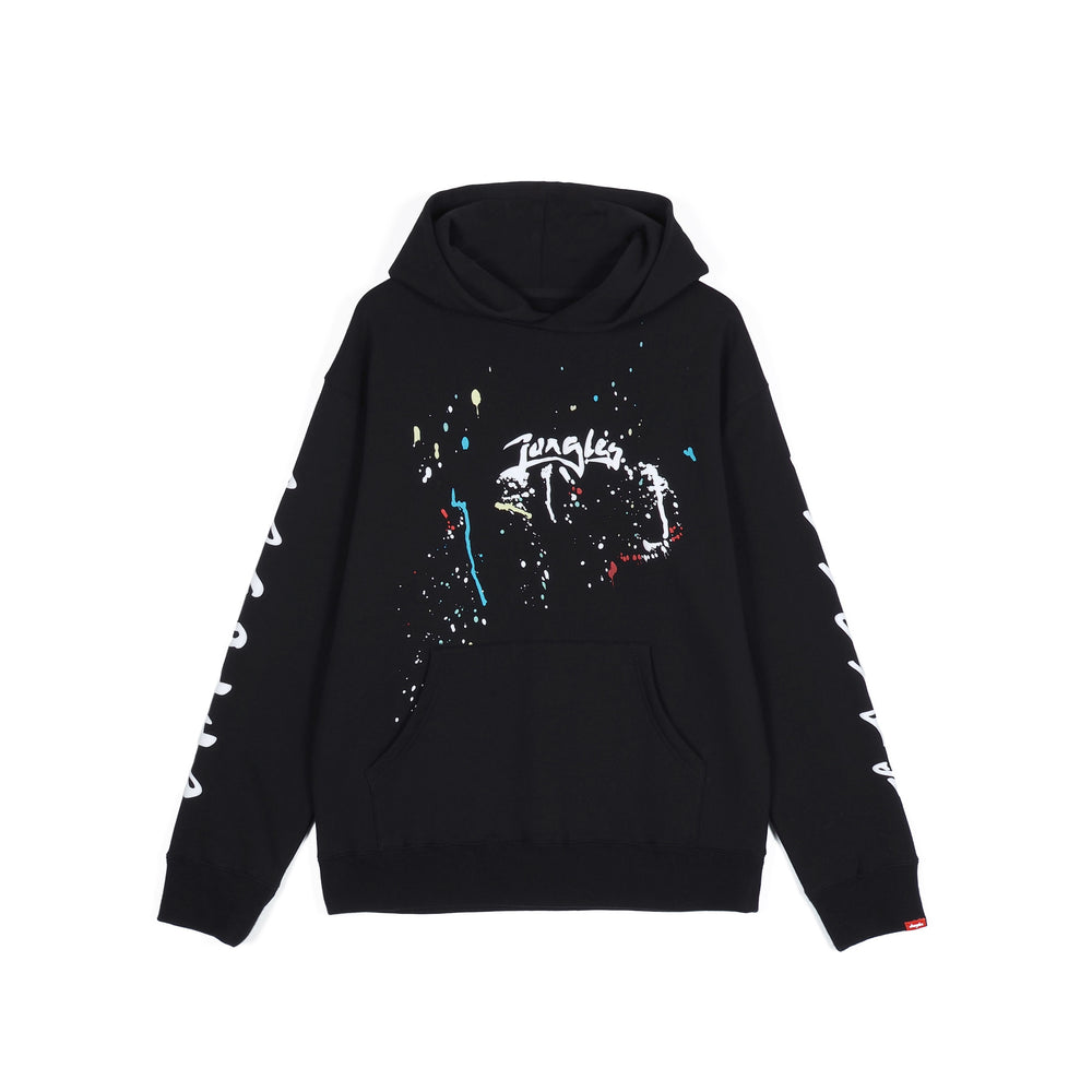 Load image into Gallery viewer, Jungles JUNGLES Logo Paint Splatter Hoodie 'Black'