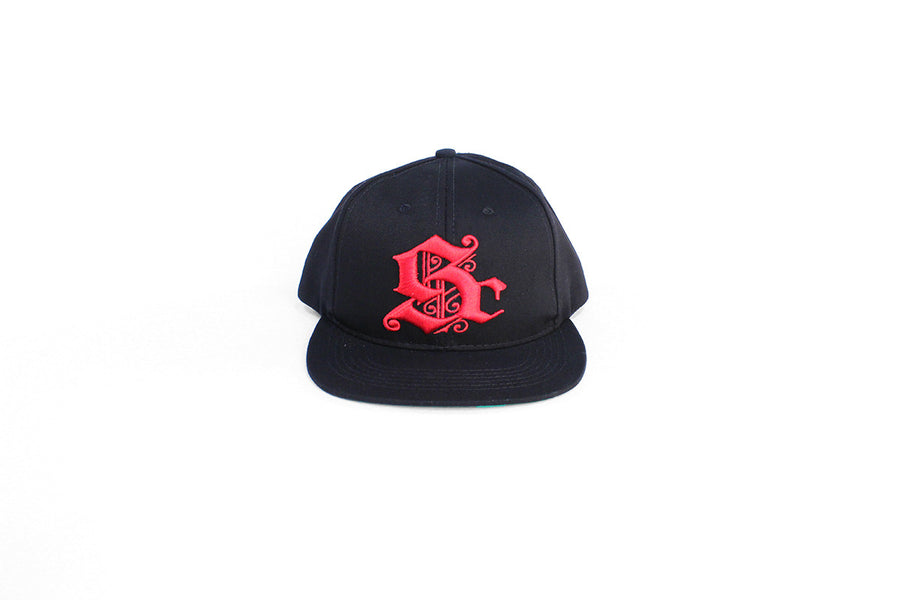 Sc Logo Snapback (Black/Red)
