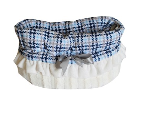 Pet Flys Blue Plaid Reversible Snuggle Bugs