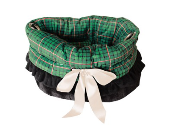 Pet Flys Green Plaid Reversible Snuggle Bugs