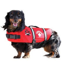 Load image into Gallery viewer, Paws Aboard Red Neoprene Doggie Life Jacket