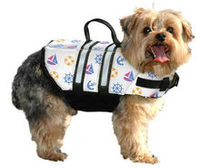 Load image into Gallery viewer, Paws Aboard Nautical  Doggie Life Jacket