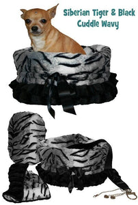 Pet Flys Siberian Tiger-Black Reversible Snuggle Bug