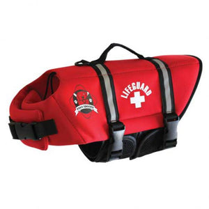 Paws Aboard Red Neoprene Doggie Life Jacket