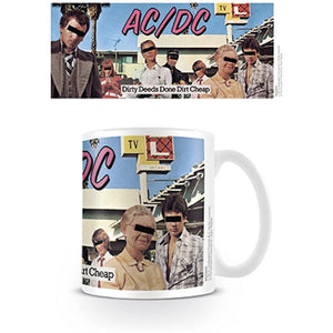 AC/DC Coffe Cup - Dirty Deeds Done Dirt Cheap