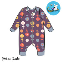 Raiden Romper - Retro Flowers