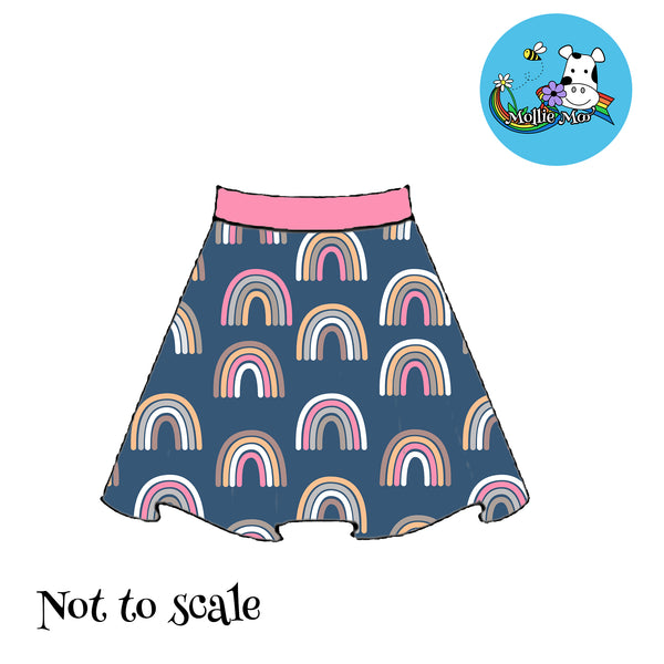 Phoebe Skirt - Retro Rainbows