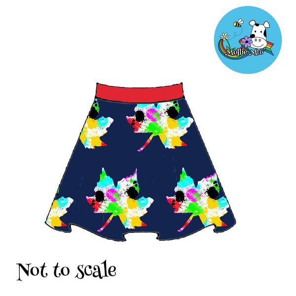 Phoebe Skirt - Leaves